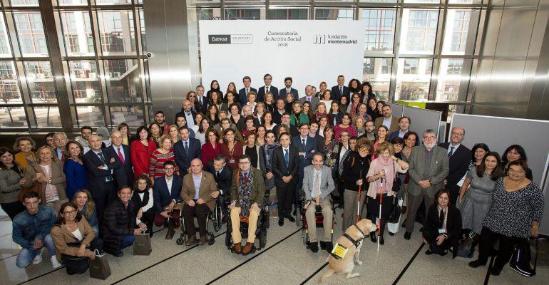 Acto de entrega del Premio de Bankia en Acción