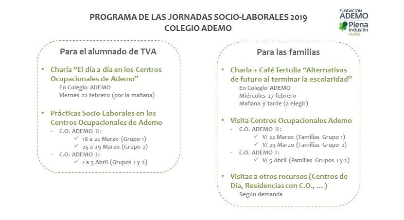 Programa Jornadas Sociolaborales 2019