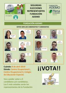 Cartel segundas elecciones representantes Ademo