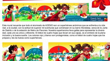 mural superhéroes