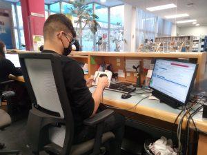 prácticas en biblioteca